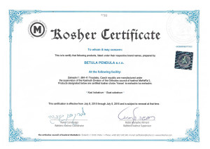 Košer certifikát